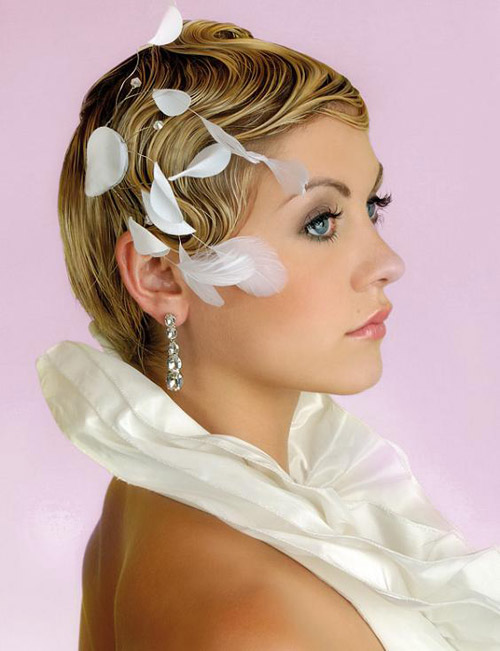 Wedding hairstyles vintage look pictues