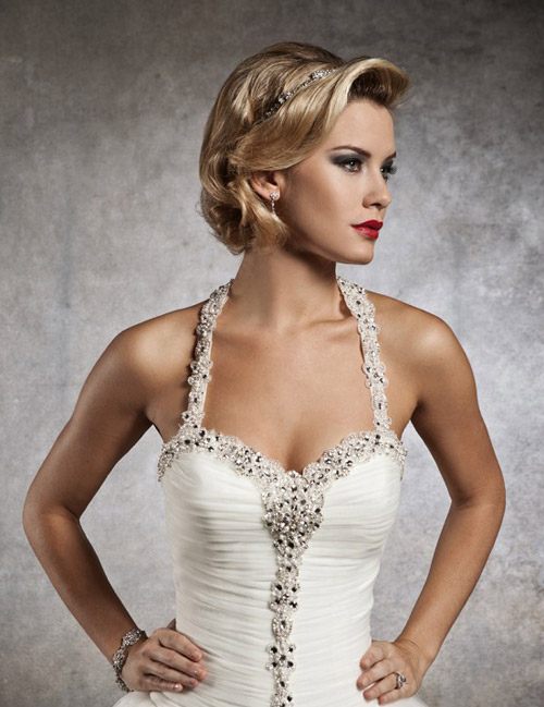 Most popular short wedding hairstyles of 2012