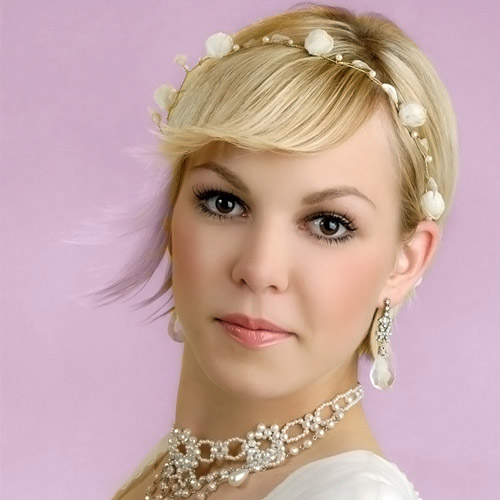 Wedding hairstyles for short hair 2013 women