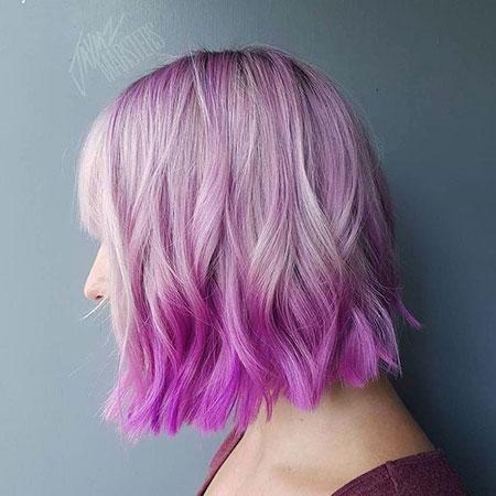 Hair Purple Ombre Pastel