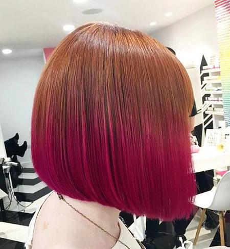Bob Hair Ombre Red