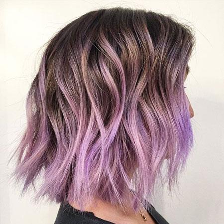 Hair Purple Ombre Color