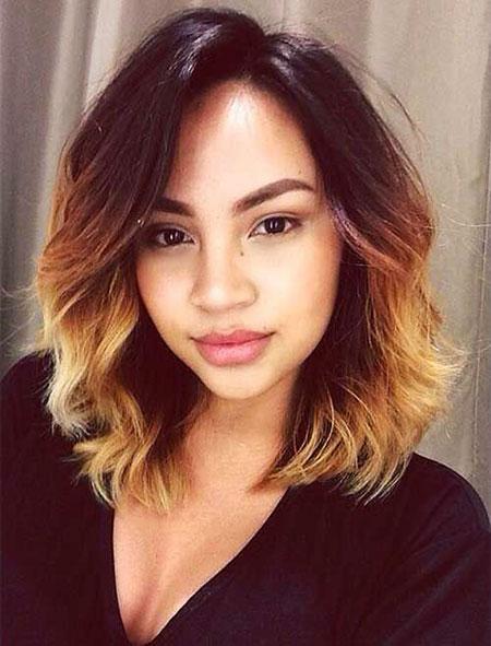 Hair Wavy Short Blonde