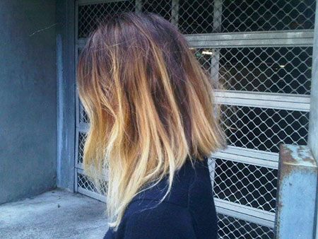 Lob with Ombre Style, Ombre Blonde Hair Bob