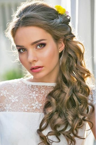 50 Awesome Curly Wedding Hairstyles 2019   Long Wedding Hair