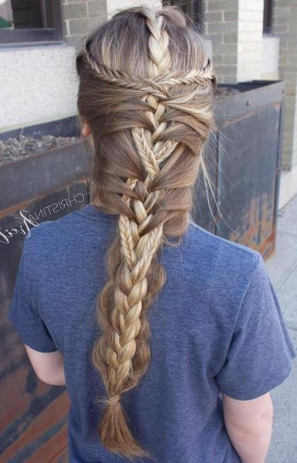 Creative Mermaid Braid For Long Hair