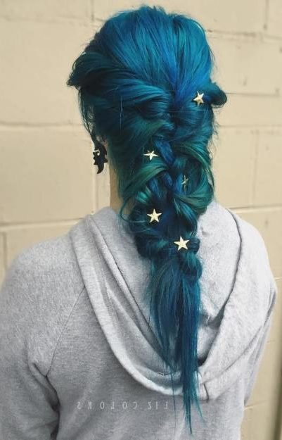 Blue And Teal Mermaid Braid