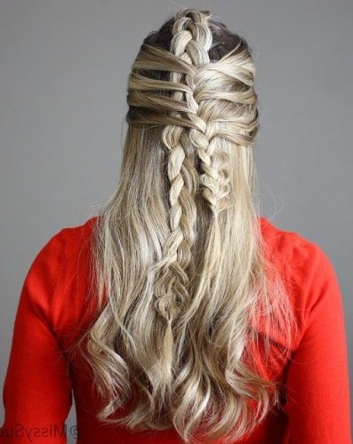 Half Up Fishtail Braid